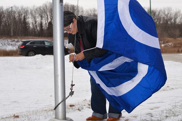 Sask. Poly promotes Métis pride with annual flag raising commemorating Louis Riel   Prince Albert Daily Herald